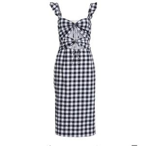 NWT! WAYF Verona Cutout Gingham Dress XL 🖤